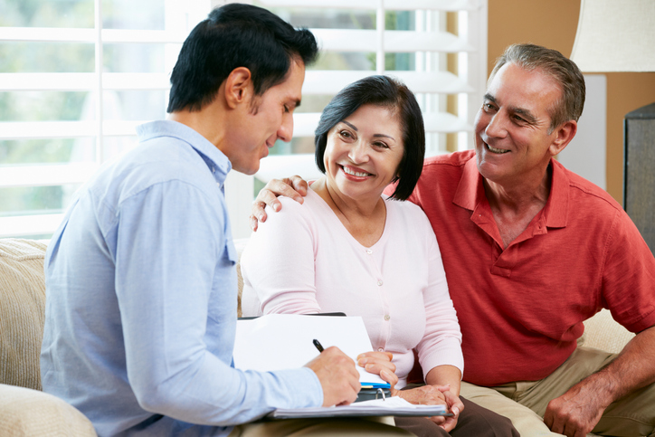 Tax efficient estate planning - couple talking to financial advisor